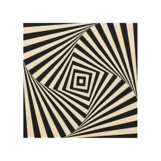 Optical Illusion Wood Wall Decor