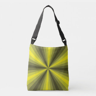 Optical Illusion Yellow All-Over-Print Bag