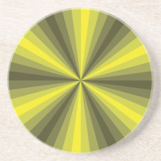 Optical Illusion Yellow Coaster