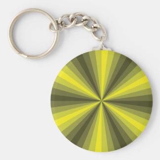 Optical Illusion Yellow Keychain
