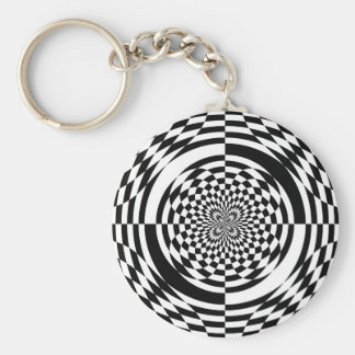 Optical illusions key chain