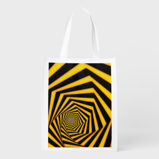 Optical Illusions Reusable Grocery Bag