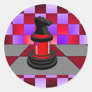 Optical Knight Chess CricketDiane 2013 Classic Round Sticker