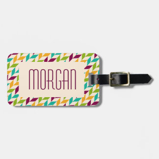 Optical leaves design luggage tag