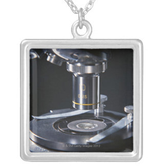 Optical Microscope Silver Plated Necklace