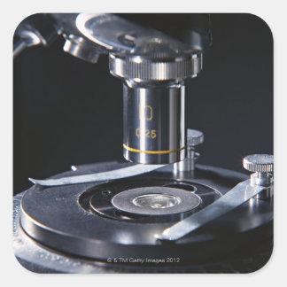 Optical Microscope Square Sticker