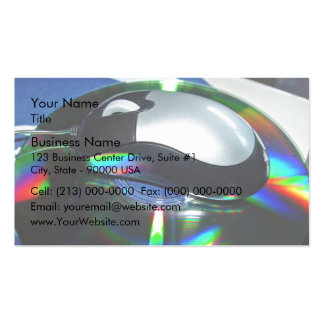 Optical mouse business card templates
