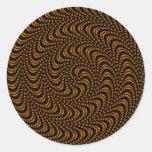 Optical Swirl Coloured Design Round Sticker