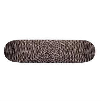 Optical Swirl Design Skate Deck