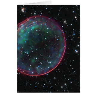 Optical X-ray Composite Image of Supernova Remnant Greeting Card