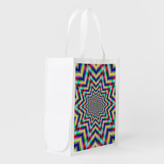 Optically Challenging Star Grocery Bag
