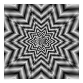 Optically Challenging Star in Black and White Photograph