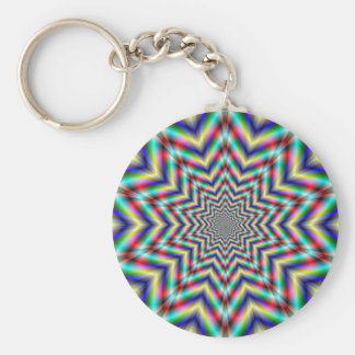 Optically Challenging Star Key Chain