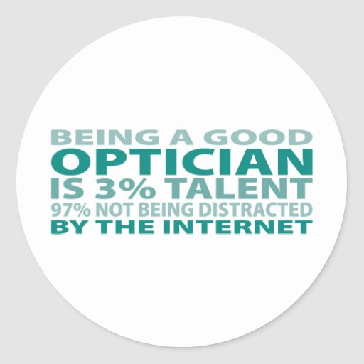 Optician 3% Talent Stickers
