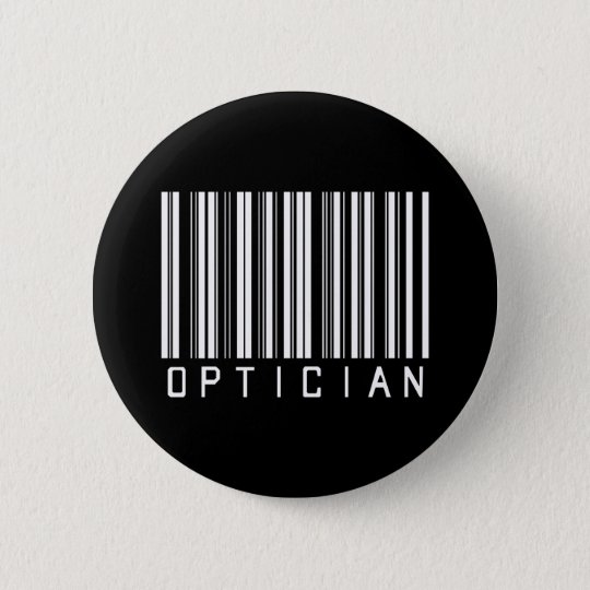 Optician Bar Code 6 Cm Round Badge