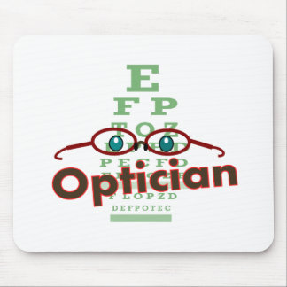 Optician--Eye chart Gifts Mouse Mats