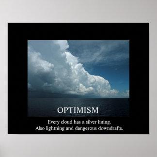 Optimism and Clouds De-Motivational Poster