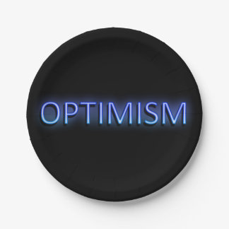 Optimism concept. 7 inch paper plate