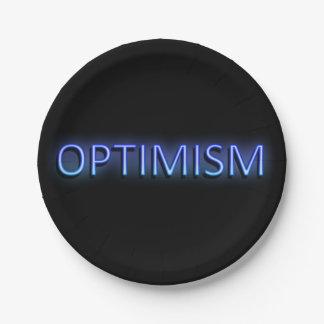 Optimism concept. paper plate