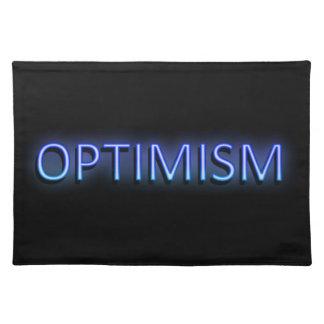 Optimism concept. placemat