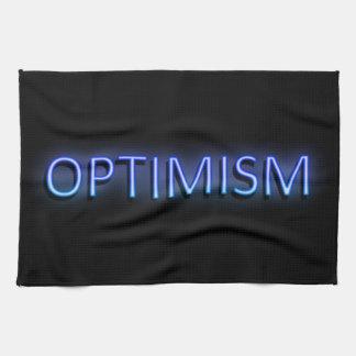 Optimism concept. tea towel