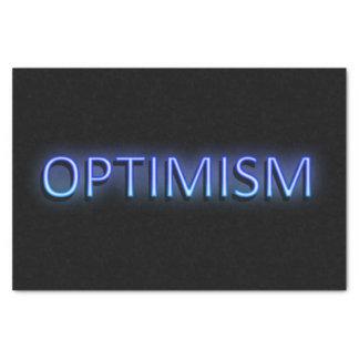 Optimism concept. tissue paper