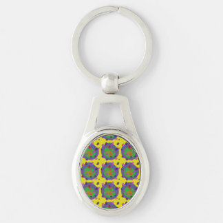 Optimism Silver-Colored Oval Key Ring