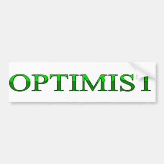 optimist bumper sticker
