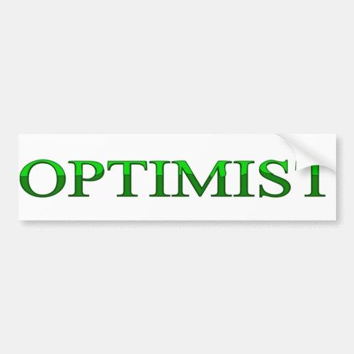 optimist bumper stickers