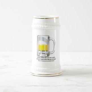 Optimist Pessimist Realist Beer Steins
