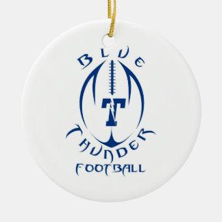Optimist Youth Football Blue Thunder Under 12 Christmas Tree Ornament