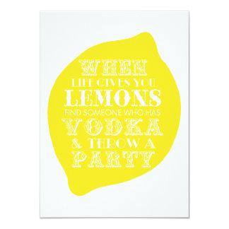Optimistic Card   Lemon Party Theme