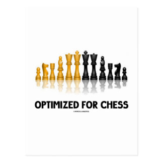 Optimized For Chess (Reflective Chess Set) Postcard