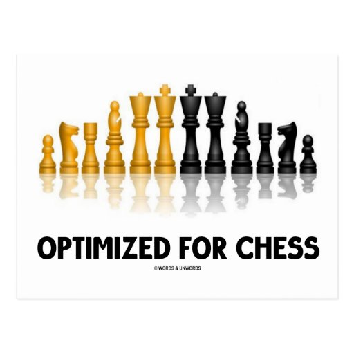Optimized For Chess (Reflective Chess Set) Post Card