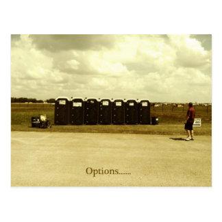 """Options"" Postcard"