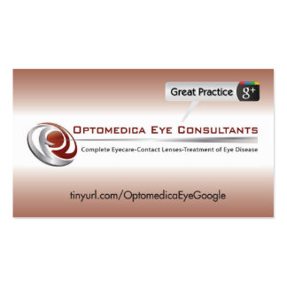 Optomedica Eye Consultants Business Card Templates