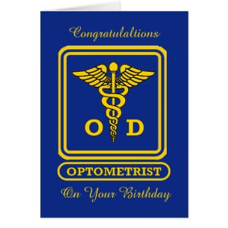 Optometrist Birthday Card
