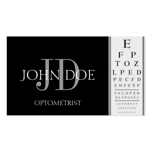 Create your own optometrist business cards optometrist chart black business cards colourmoves