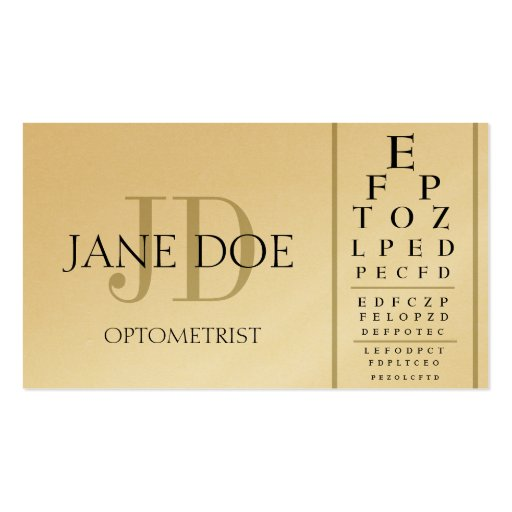 Collections of optometry business cards business cards optometrist chart golden business card templates colourmoves
