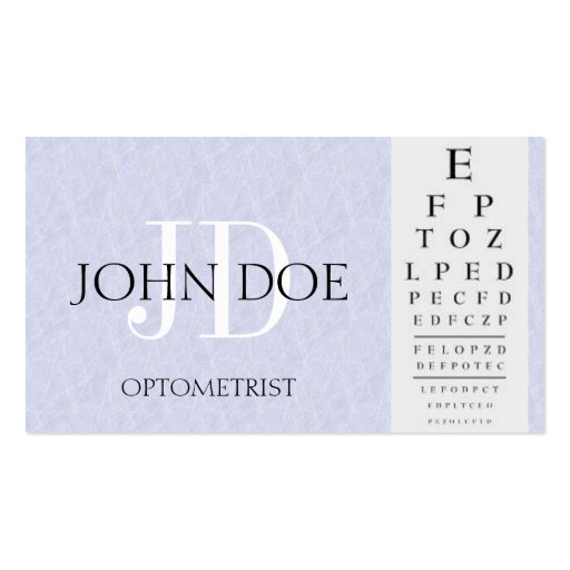 Create Your Own Optometrist Business Cards