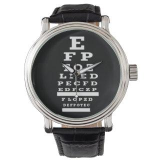 Optometrist Eye Chart Watch Black