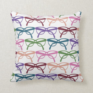 Optometrist Eye Glasses Pattern Print Throw Pillow