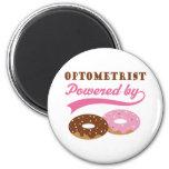 Optometrist Gift (Doughnuts) 6 Cm Round Magnet