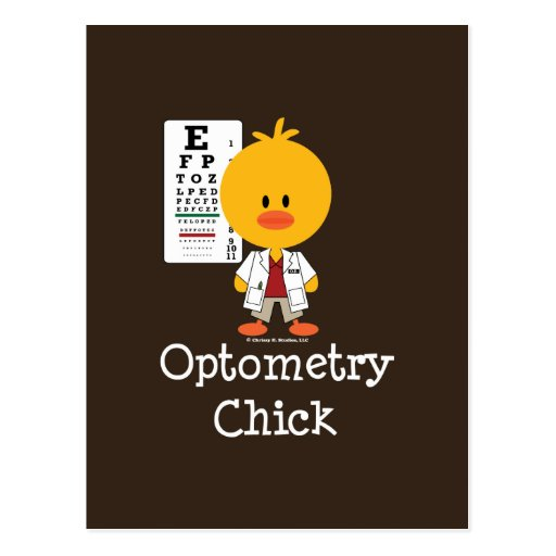 Optometry Chick Postcard