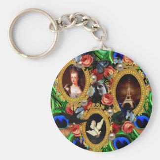 Opulence Basic Round Button Key Ring