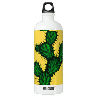 Opuntia Cactus painting with yellow background SIGG Traveller 1.0L Water Bottle