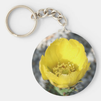 Opuntia Ficus-Indica Prickly Pear Flower Keychains