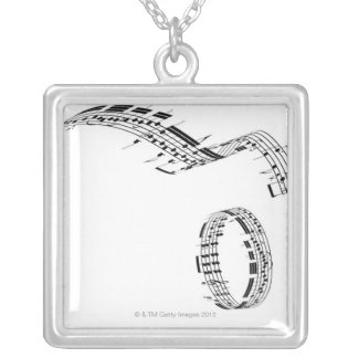 Opus 7 silver plated necklace