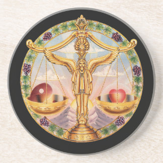 OPUS CHANGEABLE Zodiac Libra Beverage Coaster