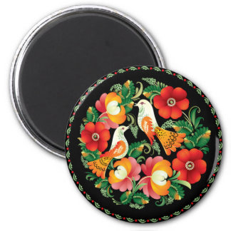 OPUS Hungarian Flower and Bird Refrigerator Magnets